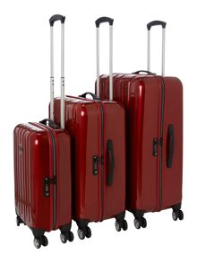 Linea Movelite Red 4 Wheel Hard Luggage