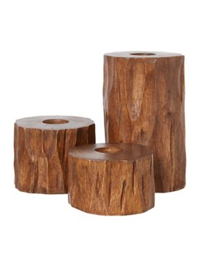 Linea Forgotten Forest Tree Trunk Candles