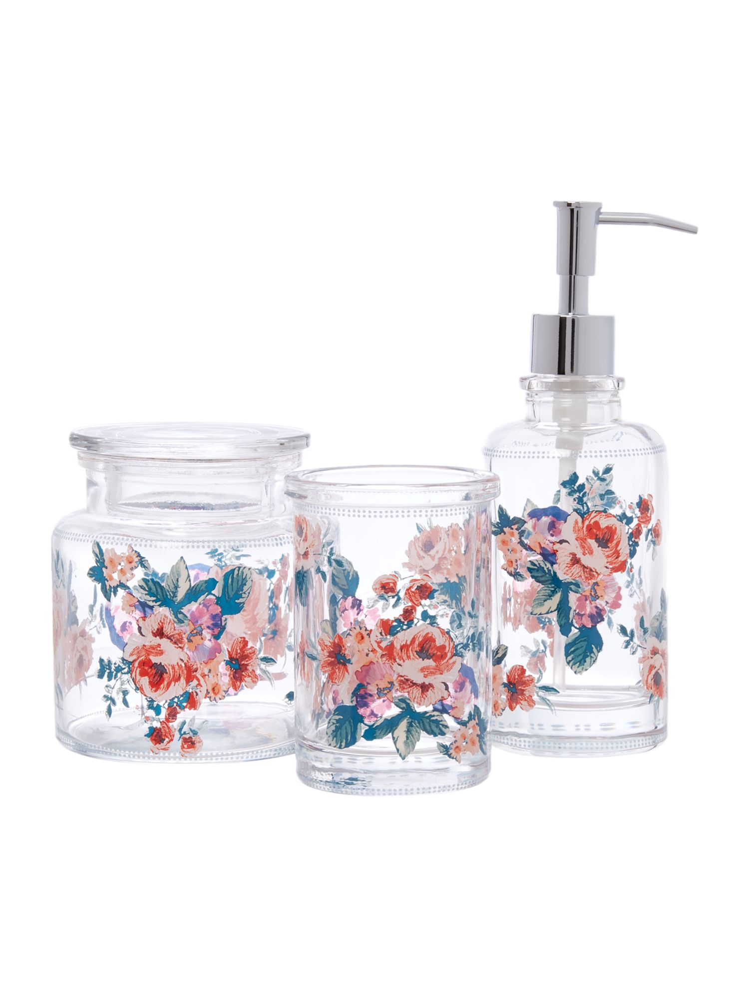 Flower Print Glass Collection