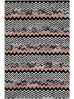 Aztec rug black/peach 150 x 230
