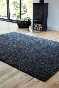 Plantation Rug Co. Purity Textures Shaggy Rug Range - Grey