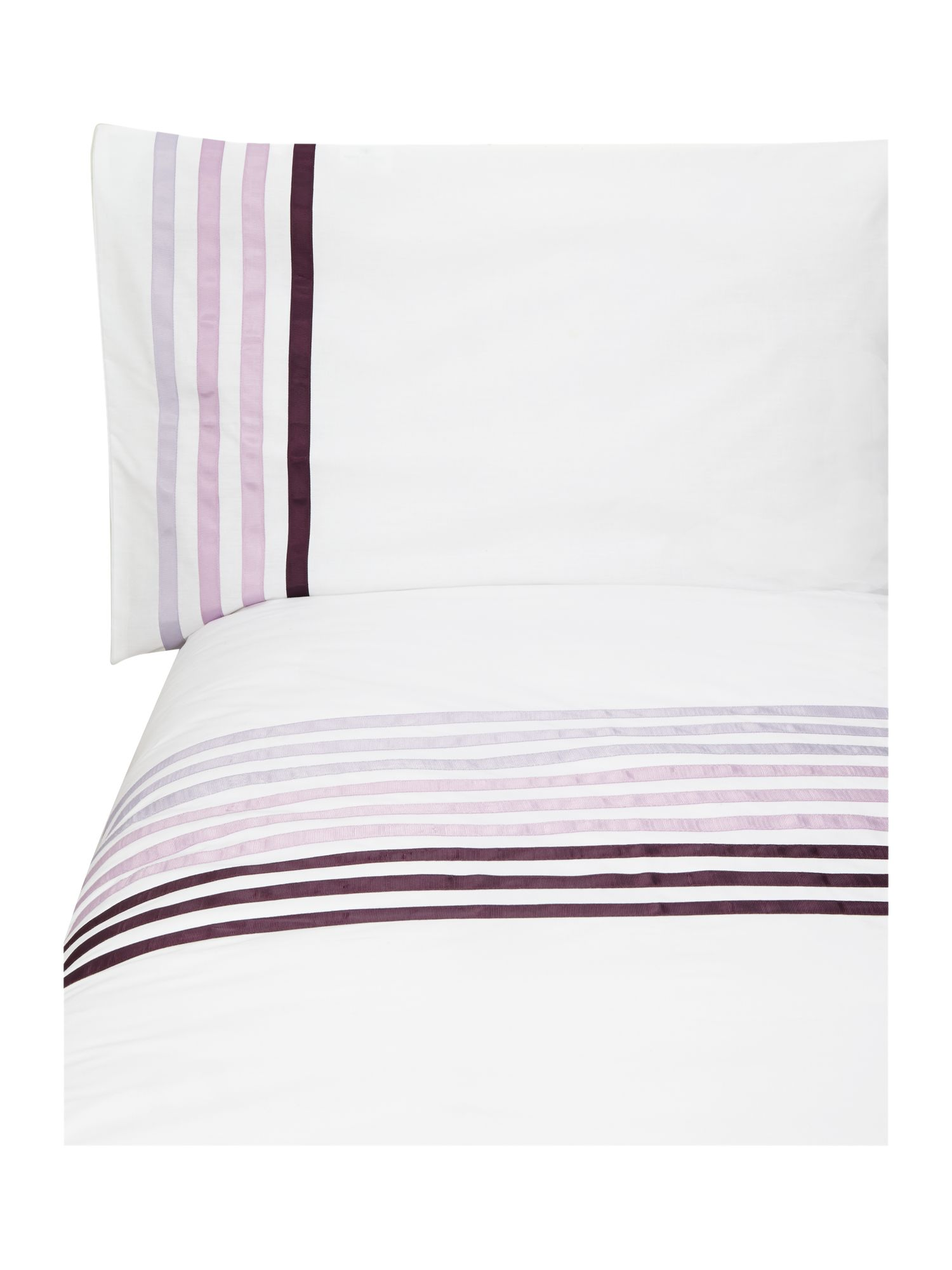 Lourdes stripe purple bedding range
