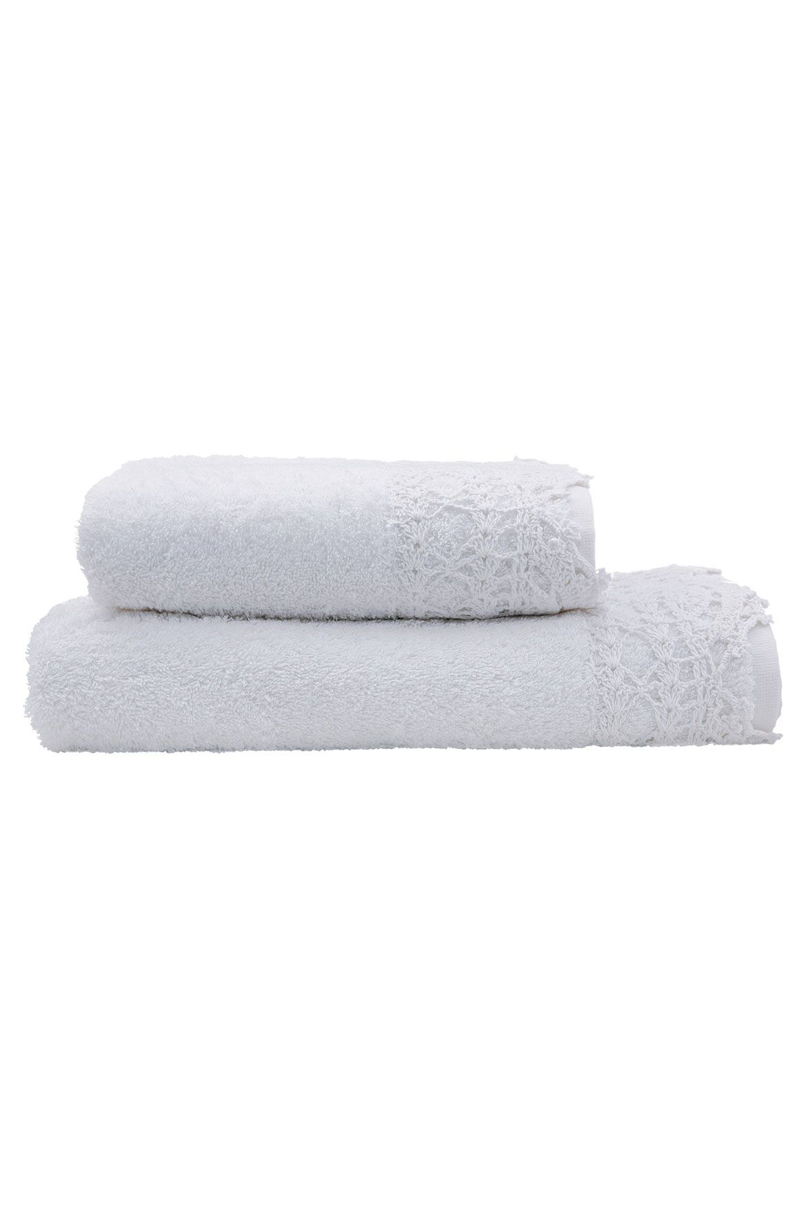 Mariel towels in white