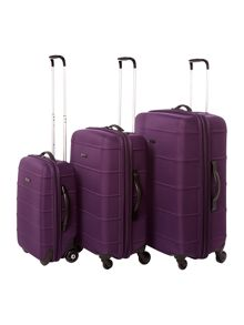 Linea Frameless  Purple Wheel Soft Suitcases