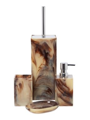 Casa Couture Resin Smoke Swirl Bathroom Accessories