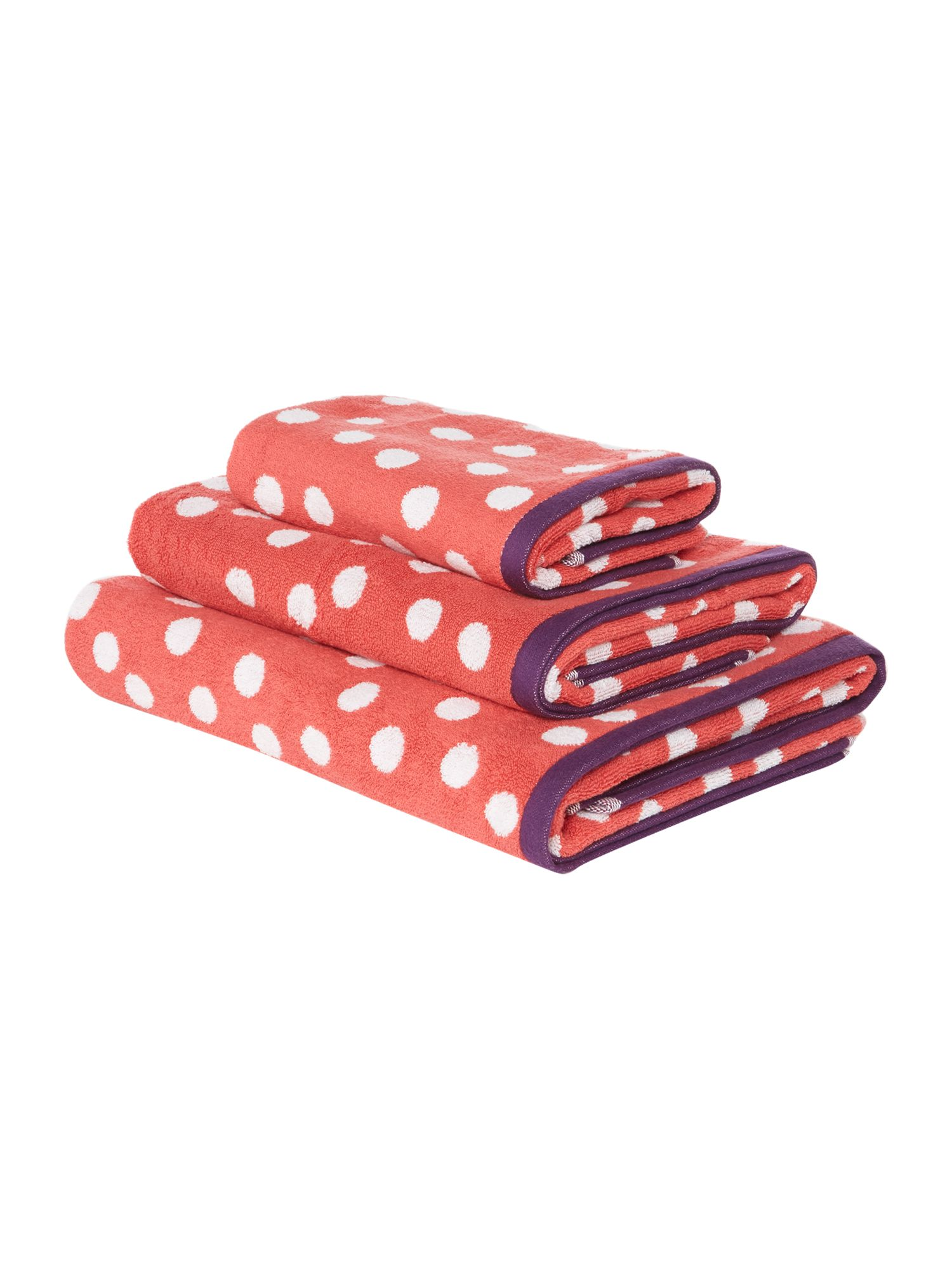 Pink Polka Dot Towel Collection