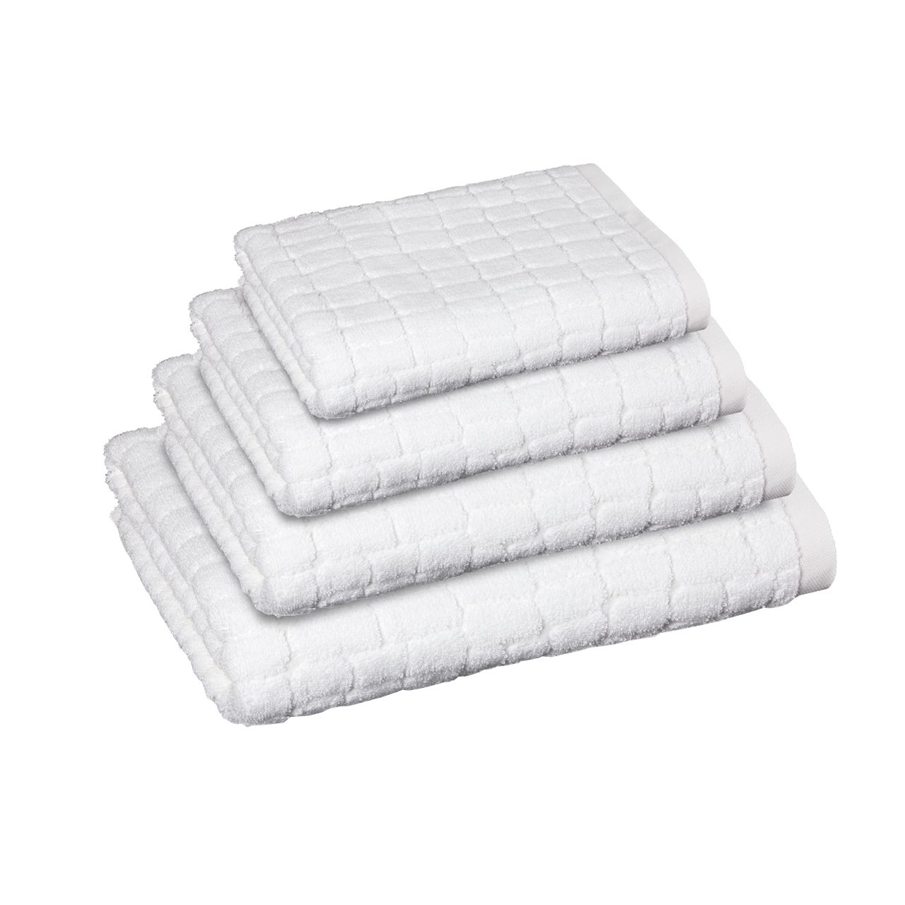 Plain Towels with croco cut in snow