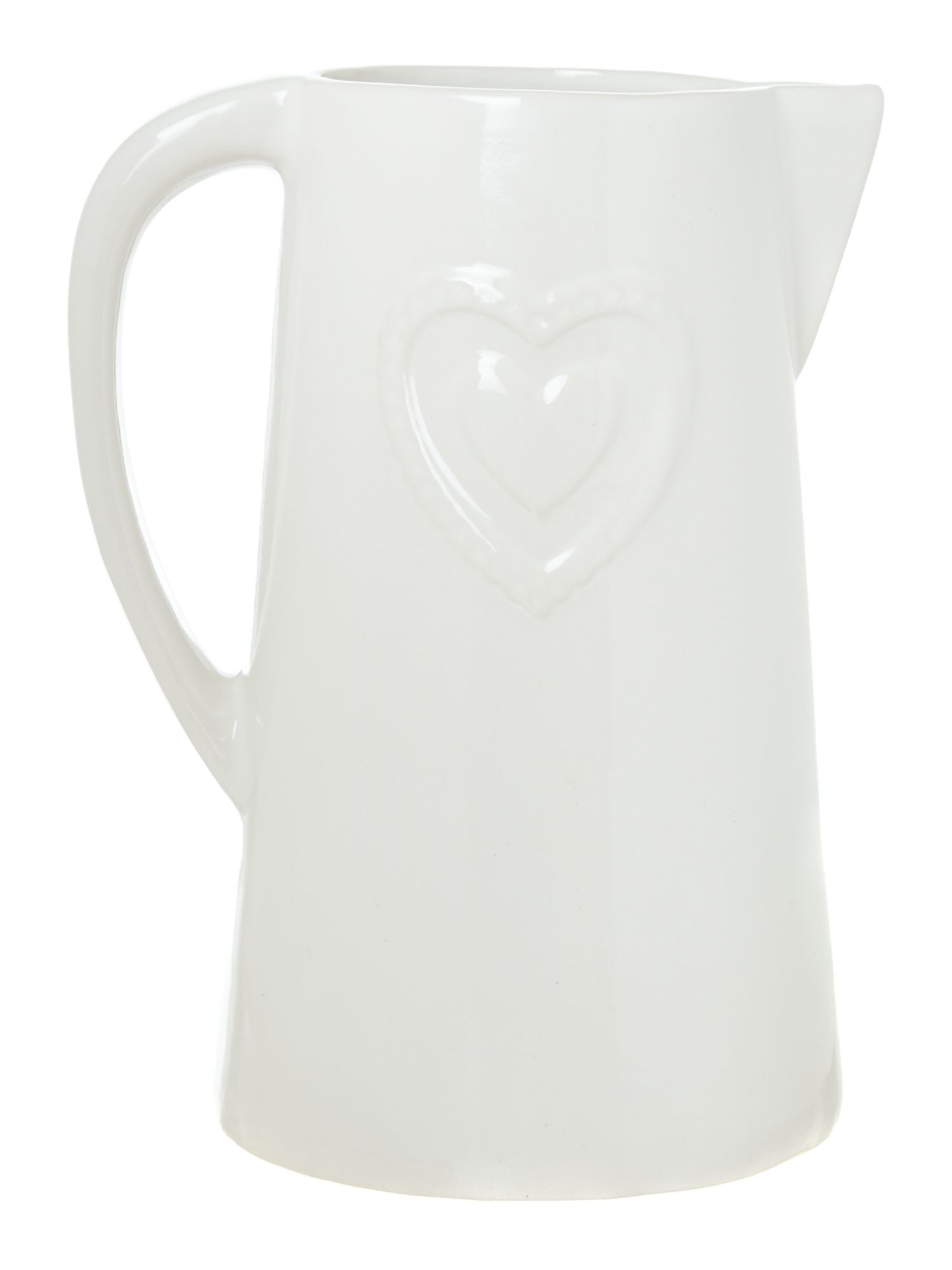 Jugs with embossed heart