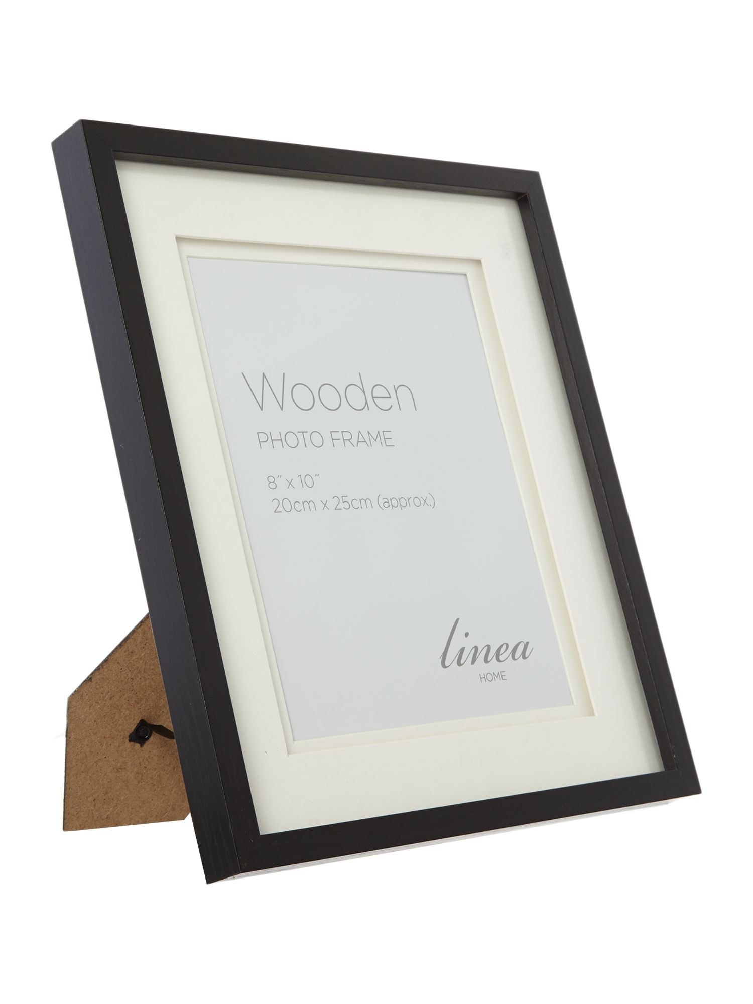 Black wood frames