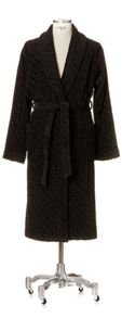 Move shawl collar robe in black