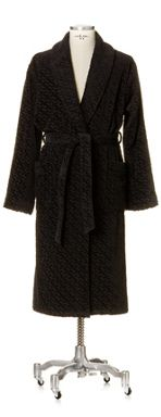 Move Move shawl collar robe in black