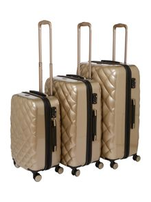 Biba Luxe Diamond Quilt Oyster Grey Luggage