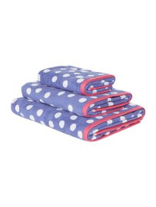 Blue Polka Dot Towel Collection