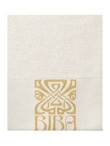 Biba Gold Logo Towel Collection Cream