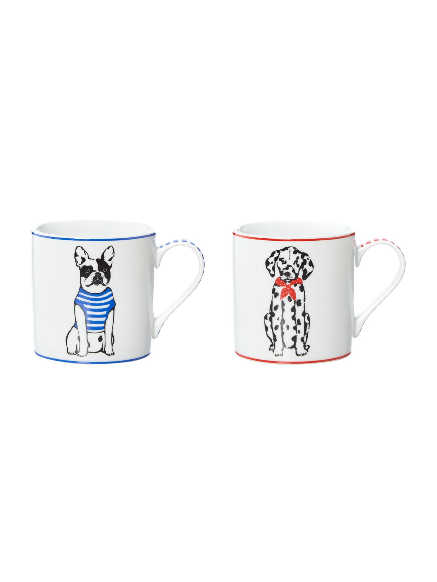 Porcelain Dog Mug Collection