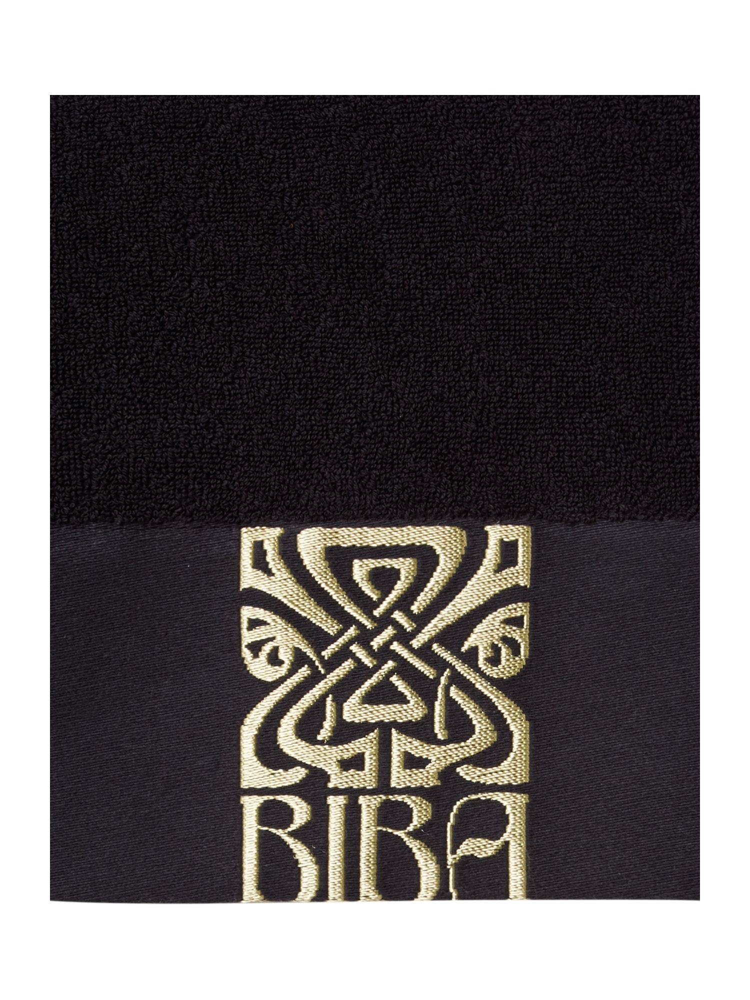 Gold Logo Towel Collection Black