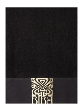 Biba Gold Logo Towel Collection Black