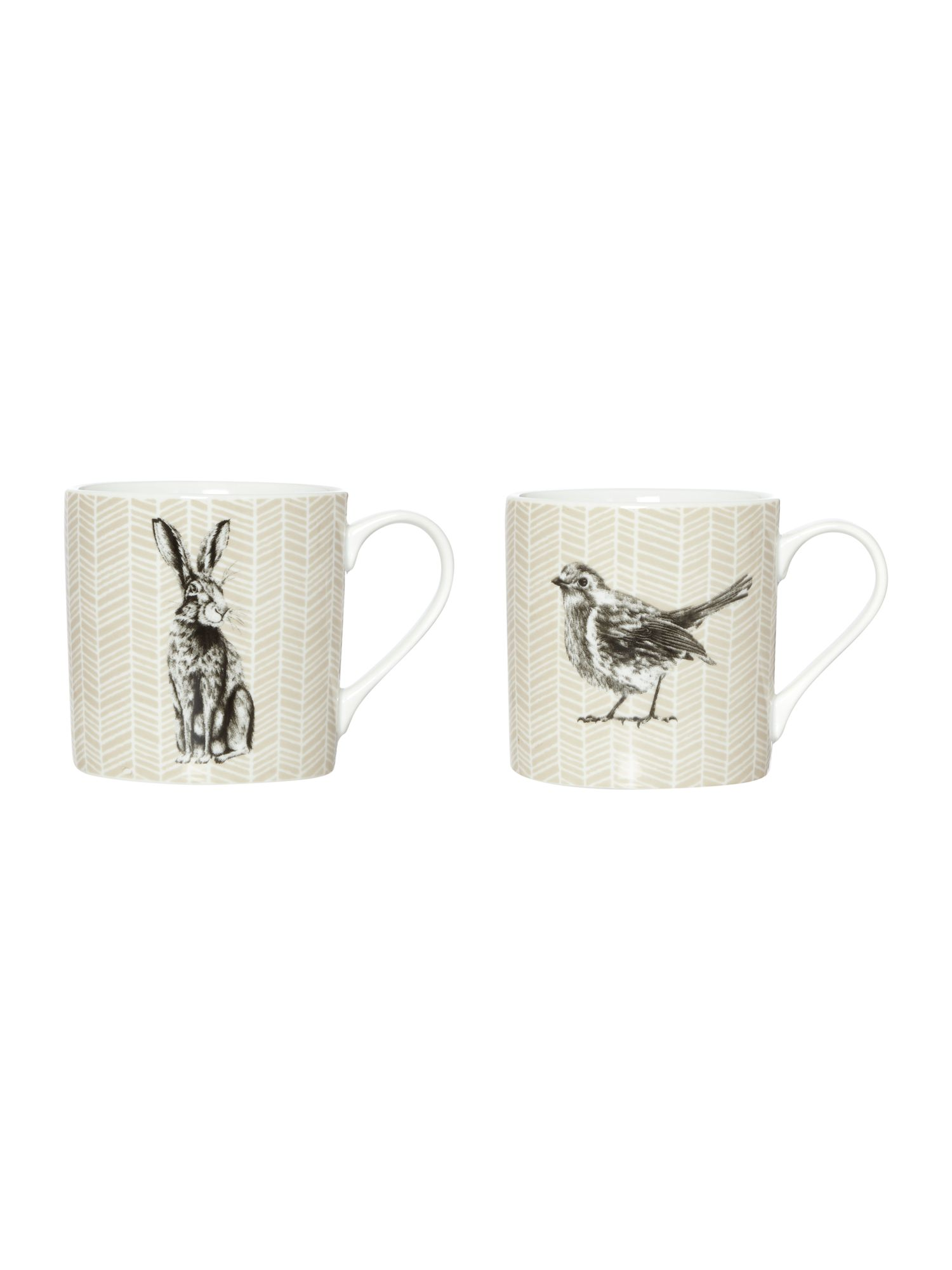 Porcelain Animal Mug Collection