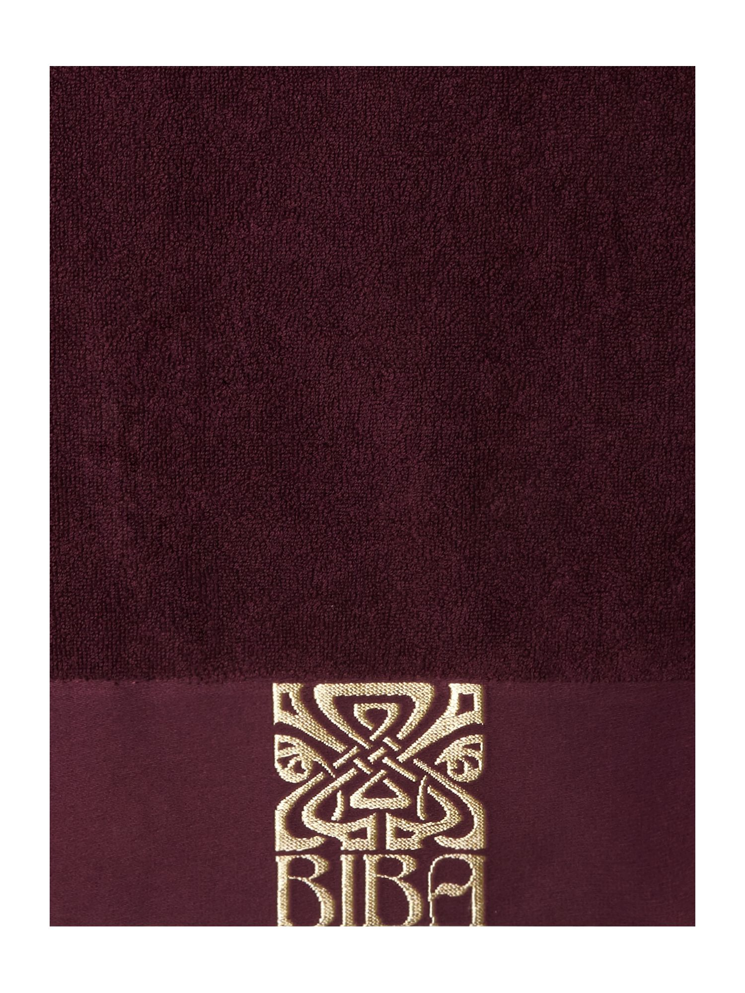 Plum & Gold Logo Towel Collection
