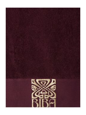 Biba Plum & Gold Logo Towel Collection