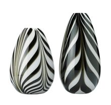 Stripe monochrome vase