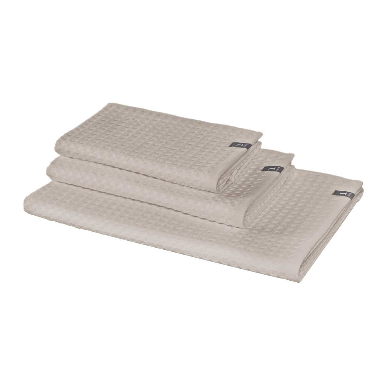 Waffle piquee towel in cashmere