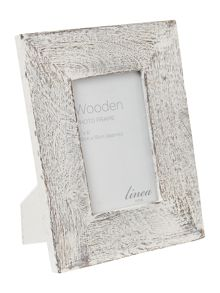 White wash chunky wooden frame
