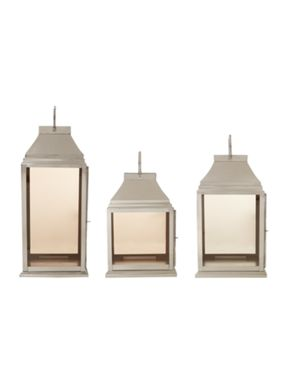Casa Couture Smoked glass lanterns