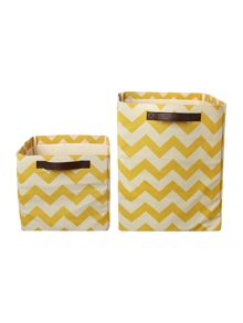 Living by Christiane Lemieux Fabric Storage Bag range in Chartreuse