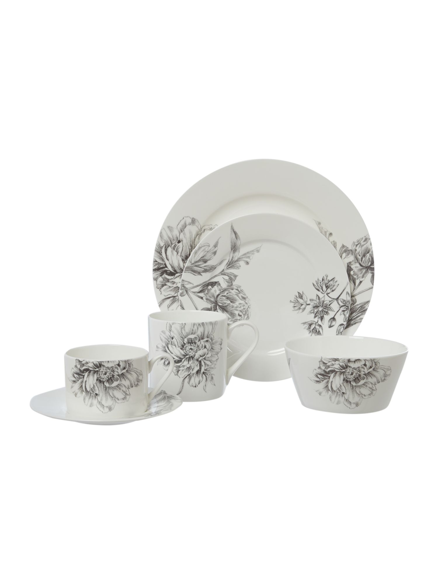 Winterbloom Bone China Dinnerware Range