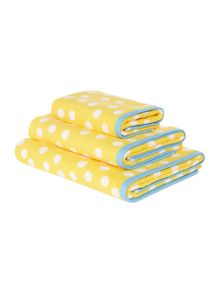 Yellow Polka Dot Towel Collection