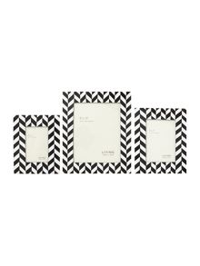 Black and white resin frames