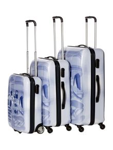 X Ray Colour 4 Wheel Hard Luggage