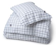 Lexington Pin Point square pillow case in shaker navy