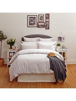 Icons Poplin King Duvet Cover in White