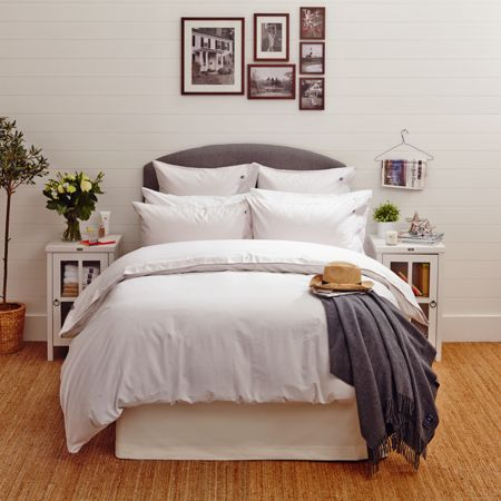 Lexington Icons Poplin King Duvet Cover in White