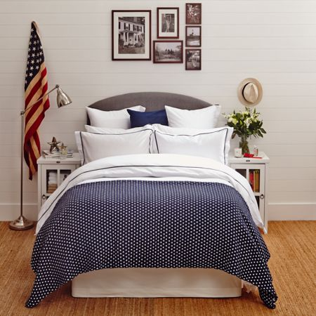 Lexington Authentic Sateen with Frame Double Duvet in White