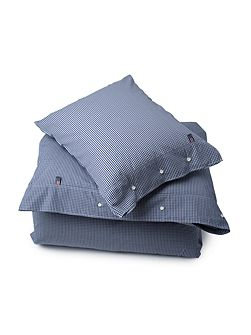 Seaside king duvet in navy check