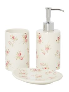 Scattered Rose basin accessories