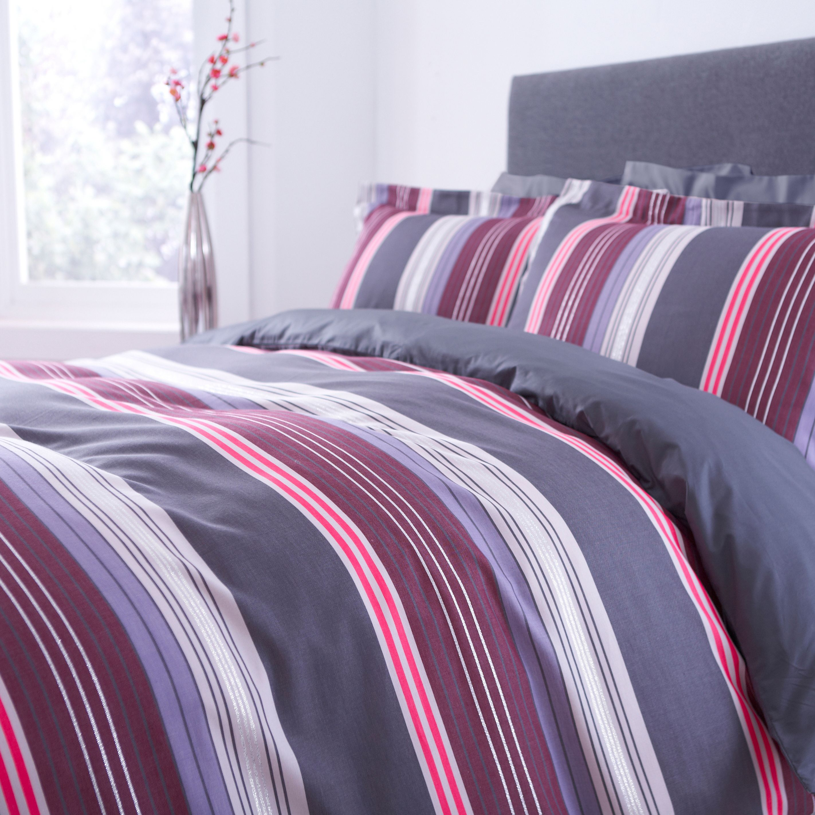 Eliane stripe bedding range