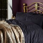 Biba Royal Jacquard Black Bed Linen Set