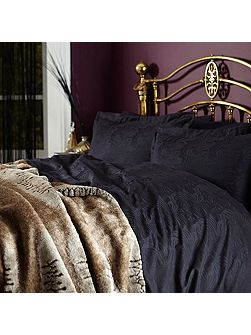 Biba Royale jacquard black oxford pillowcase pair