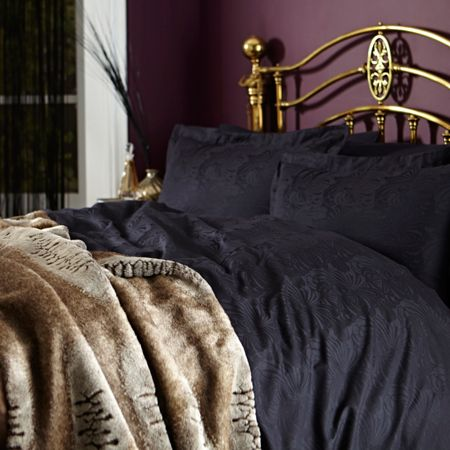 Biba Royale jacquard black double duvet cover