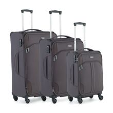 Antler Aire Dark Grey 4w Soft Luggage Set