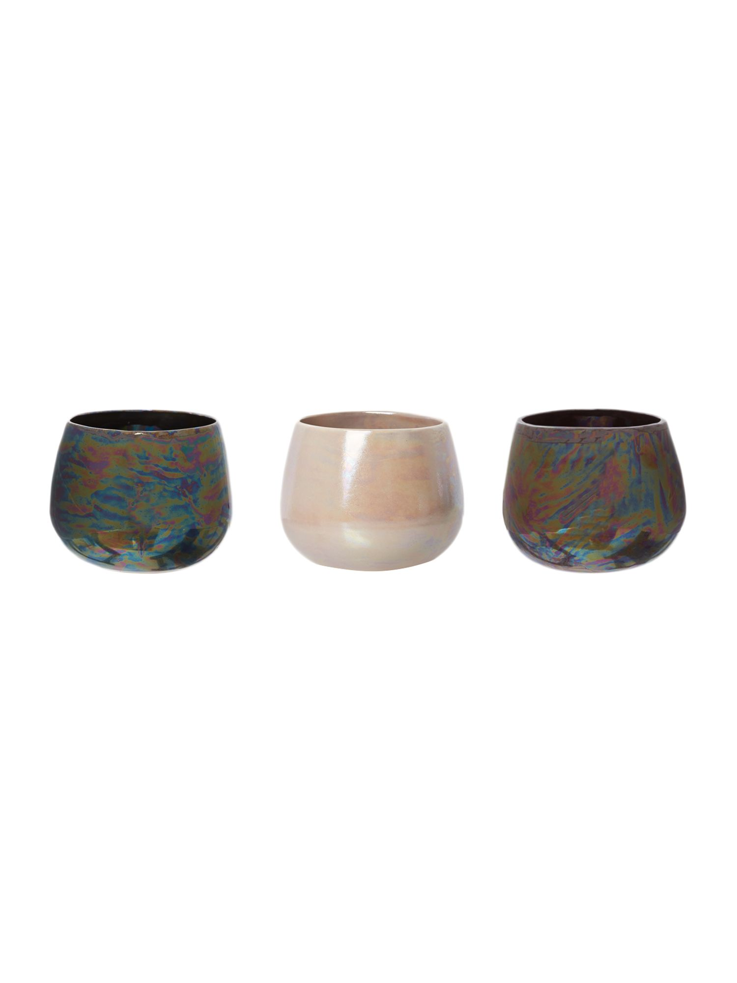 Lustre ceramic tealight holders