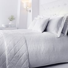 Baroque jacquard duvet set single white