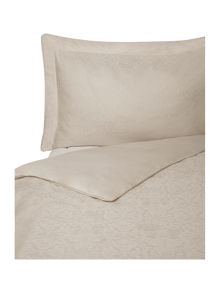 Baroque jacquard duvet set single taupe