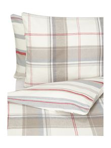 Linea Beige & Red duvet covers