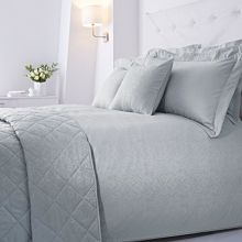 Baroque jacquard duvet set superking soft blue