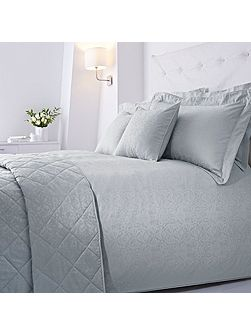 Baroque jacquard duvet set single soft blue